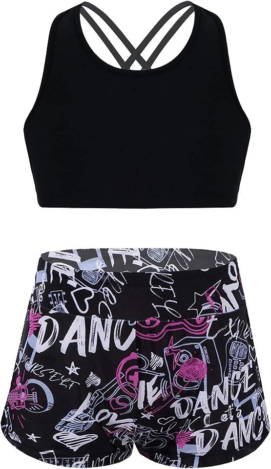 Mädchen Bikini Tankini Set Tank Top+Shorts Zweiteiler Badeanzug Bademode Kinder Badebekleidung Schwimmanzug Sport Set Gr.98-176