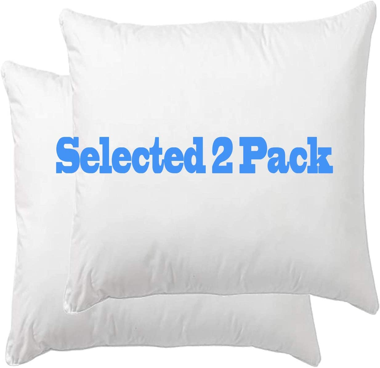 Cotton Down Alternative Decorative Throw Pillow Insert 20X20 Inches Set of 2 Square