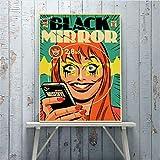 zpbzambm Pintura Sin Marco 50X70Cm Retro Classic Movie Black Mirror Poster Home Cafe Bar Decoracin De La Pared Decoracin del Arte Pintura Poster Life Lienzo Pintura,Aq-305