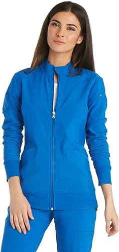 Cherokee iFlex Women Warm Up Scrubs Jacket Zip Front CK303