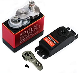 ANNIMOS Digital Servo 23.5KG/0.09S Stainless Steel Gear High Speed Waterproof Standard Baja Servos for 1:10 1:8 Scale RC Cars DS3218PRO -180 Degrees