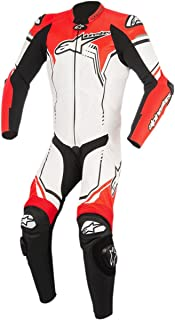 Alpinestars 3150518-233-54 GP Plus V2 Leather Suit (White/Black/Red Fluo, 44)