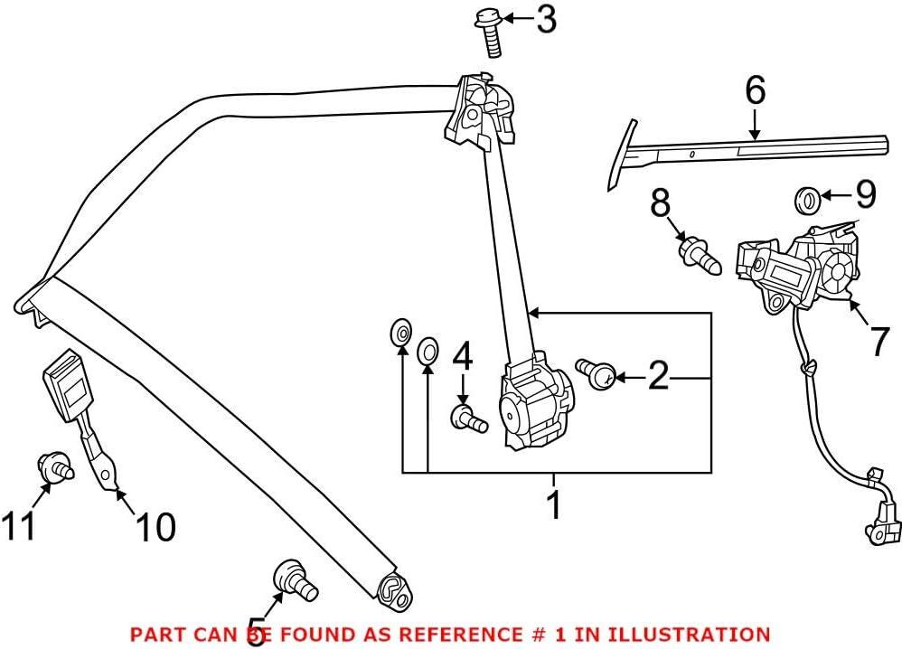 Genuine OEM Seat Belt Lap High order Mercedes Shoulder 2058607 for Trust and