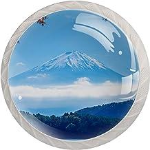 Fuji Berglandschap Set van 4 ladeknoppen trekt kast handvat voor thuis keuken kast kast home decor hardware trekknoppen