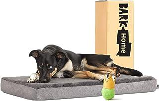 BarkBox Thick Orthopedic Gel Memory Foam Enhanced Dog Bed - Removable Washable Cover - Medium - Grey - Free Surprise Inside