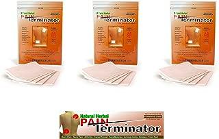 Golden Sunshine - Pain Terminator Patch & Cream Bundle Kit - 3 Pack (15 Patches) & 1 Cream Tube (50 gm)