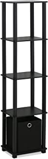 FURINNO Decorative Shelf With Bin, Black
