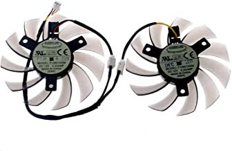 ALLPARTZ DC Brushless Fan PLD05010S 12L 7 White Blades for Graphics Card Diameter 4.6cm Hole Distance 4.0cm 12V 0.1A 2 Pin Ultra Quiet Cooling Fan