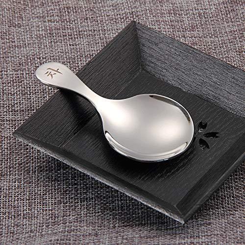 Corée 304 Matériel Scoop Fruit Dessert Cuillère Tête De Cuillère Épaisse Et Confortable Entrée Lisse (Color : B)