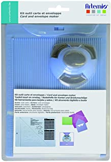 Artemio 18002087 Kit de Création Enveloppe et Carte avec Perforatrice, Plastique, Multicolore, 17,5 x 5 x 26 cm