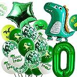 Globos de Dinosaurios QXSS Globos de Dinosaurios Cumpleaños Adornos Cumpleaños Dinosaurios Globos Numeros 0 Decoracion Adecuado para Fiestas de Cumpleaños y Fiestas Temáticas