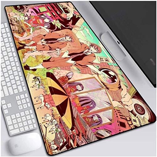 Alfombrilla de ratón para videojuegos XXL grande Bungo Stray Dogs Anime Keyboard Mat extendido para computadora de escritorio PC portátil Mouse Pad (color : U, tamaño: 800 x 300 x 3 mm)