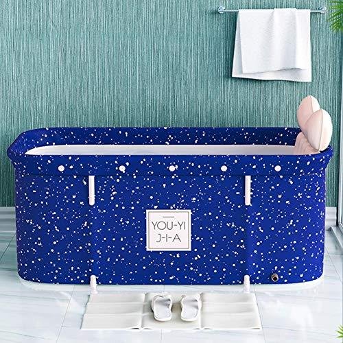 Badewanne Bathtub Faltende Wannenbad Badewanne für Erwachsene Klapp Badewanne PVC Kunststoff Dusche Mobile Badewanne Tragbare Spa-Haushaltsbadewanne mit Badzubehör-120cmx55cmx50cm