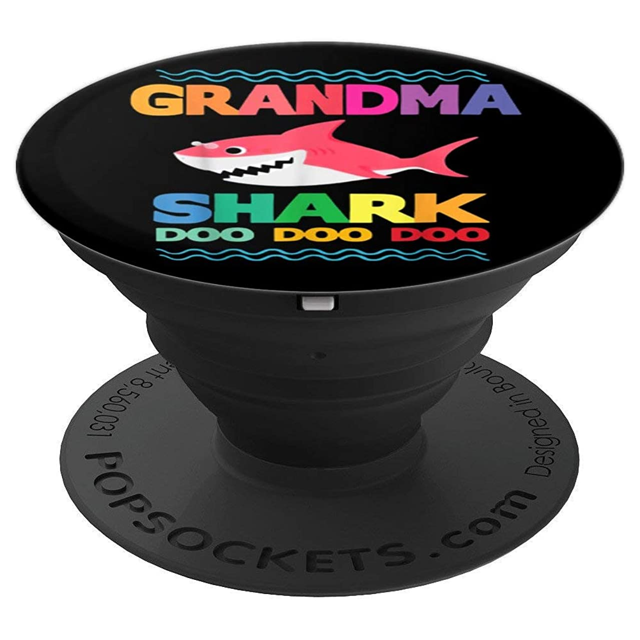 Grandma Shark T-Shirt Doo Doo Grandpa Mommy Daddy Tee - PopSockets Grip and Stand for Phones and Tablets