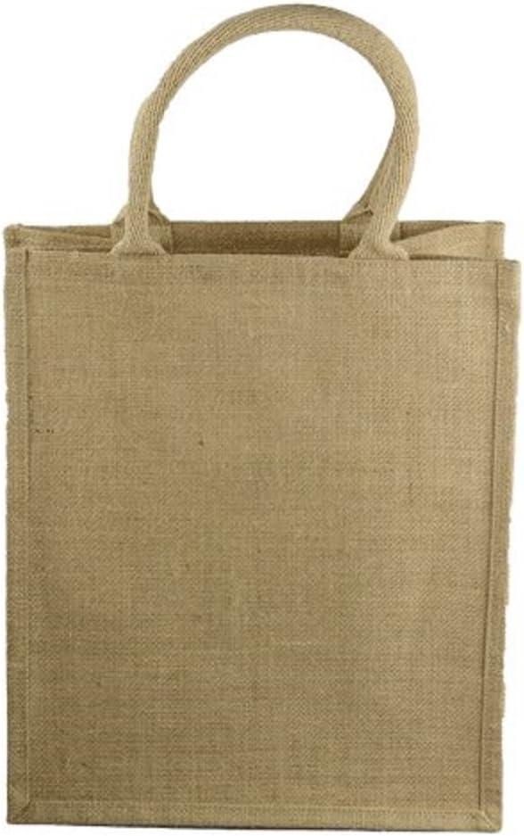 Natural Jute Burlap 6 Bottle Ca Reusable Wine Mail order Outstanding Bag Tote