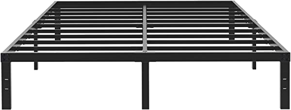 45MinST 14 Inch Platform Bed Frame Easy Assembly Mattress Foundation 3000lbs Heavy Duty Steel Slat Noise Free No Box Spring Needed Twin Full Queen King Cal King King