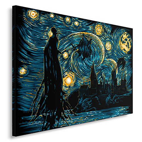 Feeby. Cuadro en Lienzo - 1 Parte - 60x40 cm, Imagen impresión Pintura decoración Cuadros de una Pieza, Starry Dementors - DDJVigo, PELÍCULA, Azul Marino