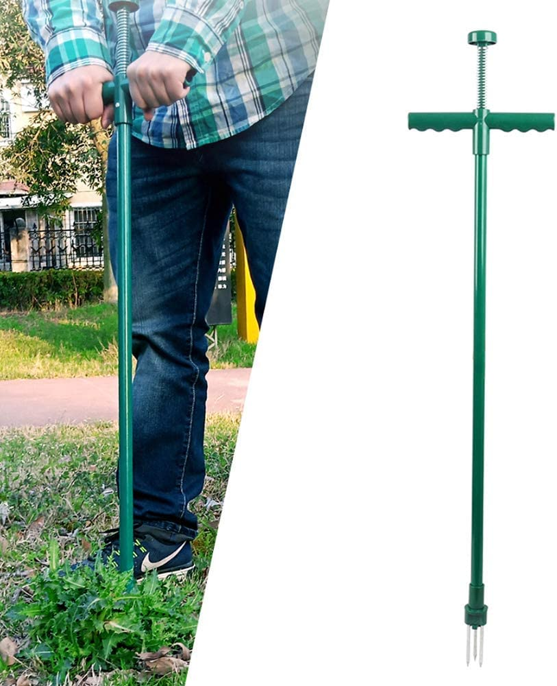 Chlggzw Soldering Manual Weed Puller Stainless Lawn Handle Steel List price Aerator