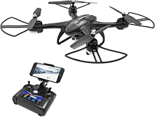 DEERC Drone with Camera for Adults and Beginners 720P FPV HD Live Video Feed 120°FOV, RC Quadcopter RTF with Altitude Hold Headless Mode Functions, Intelligent Battery