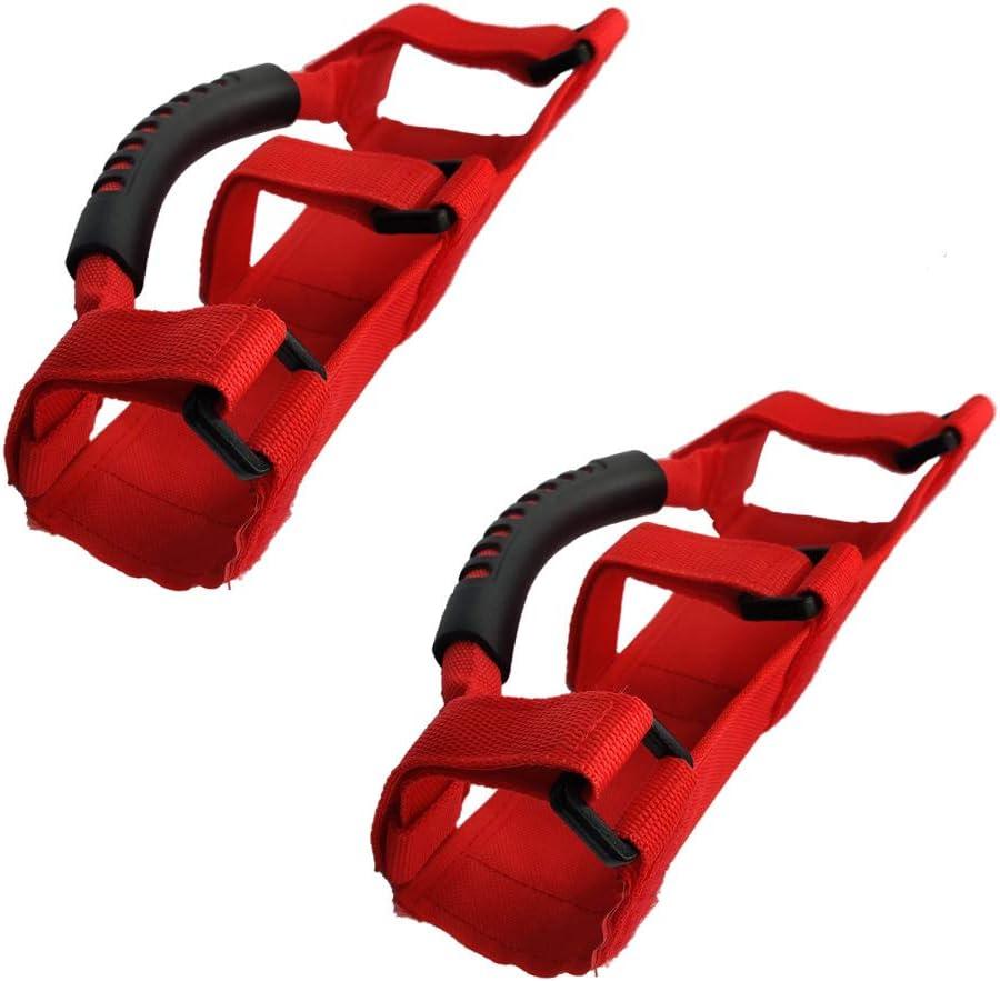 Black Roll Bar Grab Handles for Wrangler YJ CJ TJ JK JKU JL Wrangler Accessories 2 Pack JUXATECH Grab Handle Set for Wrangler