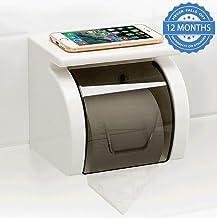 HOKIPO Magic Sticker Series Self Adhesive Bathroom Toilet Tissue Paper Roll Holder Dispenser
