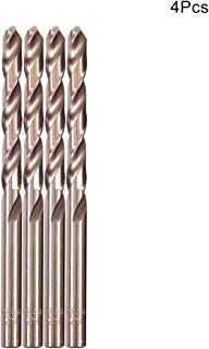 Utoolmart 8.5mm Drill Diameter High Speed Steel Twist Drill Bits M35 Cobalt Steel Straight Shank Drilling Champagne 117mm Length Grinding Process Power Tool 2pcs