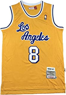 Basketball Uniform NBA Trikot Lakers 24 Kobe # 8 Retro Bestickte Mesh T-Shirt Sportkleidung