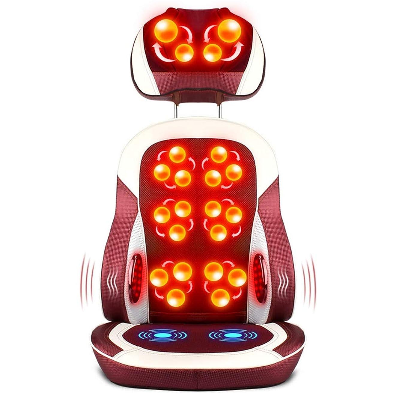 力合成半島マッサージのクッション - 首の腰部の腰部ホームオフィスのための熱クッションが付いている多機能の一定した温度椅子のためのマッサージのクッション