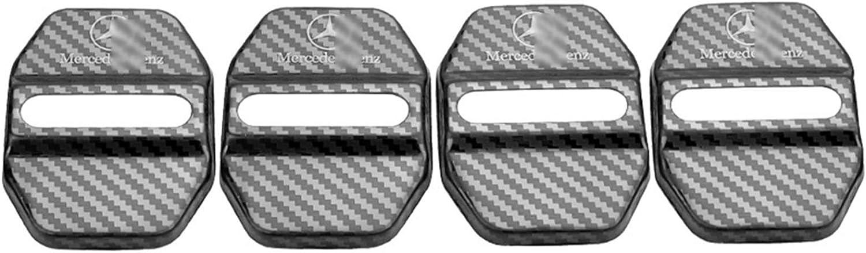 QQJK 4Pcs T/ürschloss-Abdeckung Edelstahl-T/ür-Verschluss Abdeckungsschutz Autot/ürschloss Dekorative Abdeckung F/ür Mercedes Benz AMG WC180E260L GLK GLA200 GLC