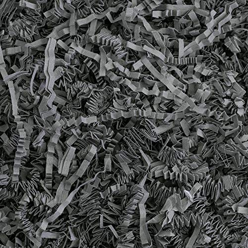 Crinkle Cut Paper Shred Filler (1 LB) for Gift Wrapping & Basket Filling - Slate Gray | MagicWater Supply