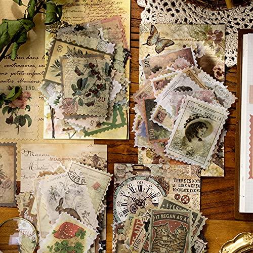 CJBIN Sellos Scrapbooking, 240 Pcs (4 Estilos) Pegatinas Scrapbooking Pegatinas Vintage, para Pegatinas Bullet Journal, Calendarios, Diary para Adultos Etiqueta Decorativa DIY Craft álbumes De Fotos