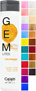 CELEB LUXURY セレブの高級宝石LitesのColorwash:ストロベリーブロンド、色堆積シャンプー、10羽の伝統的な色は、1クイックウォッシュでフェードを停止し、虐待フリー、クレンズ+カラー、硫酸塩フリー、100%ビーガン 240...