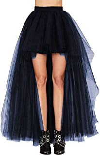 09e7caef4c3 FOLOBE Falda de Tul con Lazo de Cola de Milano Falda Larga de Encaje con  Espalda