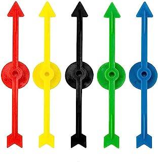 Killow 25 Piezas 5 Colores Flecha de Spinner de Juego de Plástico para Escuela, Spinner de Juego de Tablero (10 cm)