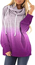 Hebe Top Shirts for Women Tie Dyes Printed Casual Loose Fit Tunic Top Baggy Comfy Blouse