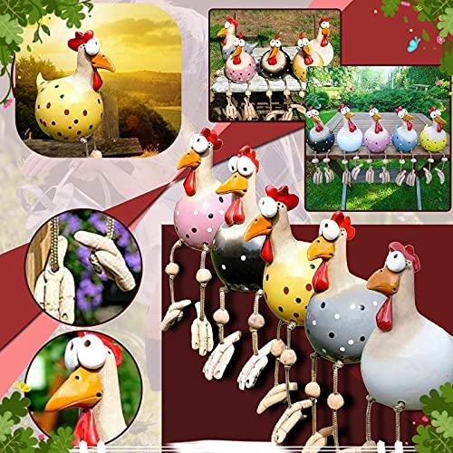 Garten Skulpturen & Statuen Dekor für den Außenbereich, 2021 Fun Decor Keramik Huhn Hilde Garten Home Handcraft Ornamente Dekoration Tierfigur Plug Keramik Figur für den Außenbereich