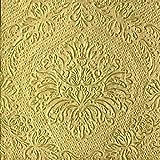 Servietten, gold, mit Prägung 16 Stück, 33x33cm