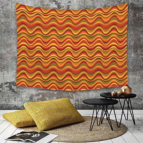 Yaoni Tapestry Pared pano Mantel Toalla de Playa,Geometrico, Patron de Dunas del Desierto Diseno Abstracto Paleta de Colores calidos Funk,Decoraciones para el hogar para la Sala de Estar Dormitorio