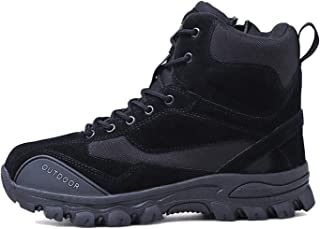 Stivali da Combattimento Tattici Desert Boots da Uomo Sneakers da Esterno in Pelle Caccia Trekking Campeggio Alpinismo Sca...