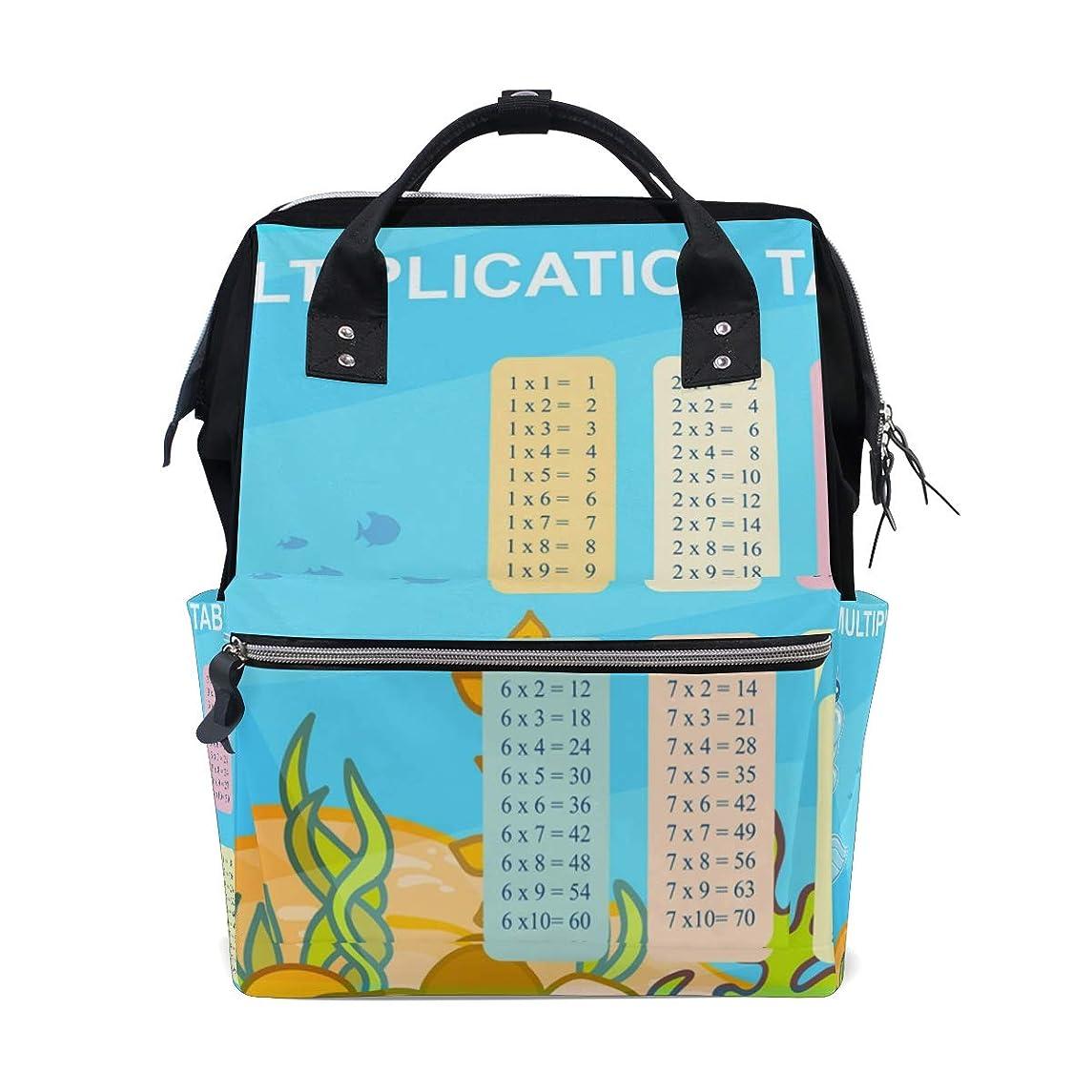 Multiplication Table School Backpack Large Capacity Mummy Bags Laptop Handbag Casual Travel Rucksack Satchel For Women Men Adult Teen Children