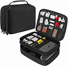 Electronic Organizer JBOS Accessories Organizer Travel Cable Storage Bag Gadget Organizer Bag Double Layer Electronics Org...