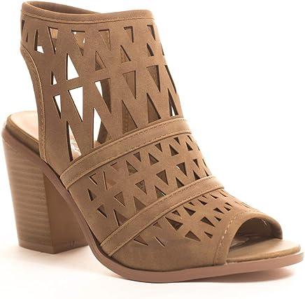4478b613e89 Soho Shoes Women s Peep Toe Ankle Strap Sandal - Open Toe Ankle Booties