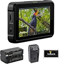 """Atomos Shinobi 5"""" 4K HDMI HDR Photo & Video Monitor with NP-F770 Lithium-Ion Battery, AC/DC Charger & Screen Cleaning (5-Pack) Bundle"""