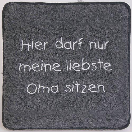 Fan-O-Menal Schurwoll-Sitzkissen - liebste Oma sitzen - 30008