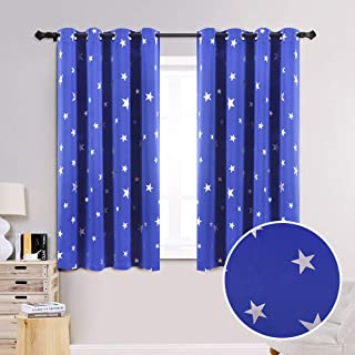 Anjee Blackout Curtains for Kids Room with Foil Print...