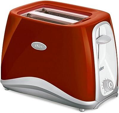 Oster 6544Rd-053 - Tostadora de 2 rebanadas, color rojo (220 V, no para Estados Unidos)