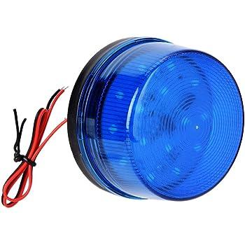 12V Azul señal de alarma, Alarma de luz estroboscópica de LED azul luz intermitente sin sonido