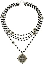 VSA San Benito Magdalena Necklace Silver in Jet with Silver Night