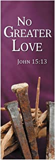 New Life Series Church Banner for Lent and Easter - No Greater Love