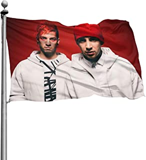Menhfb Twenty_One_Pilots Music Decoration Flag Banner for Home Patio Indoor Outdoor with 3D Printing 4 X 6 FT